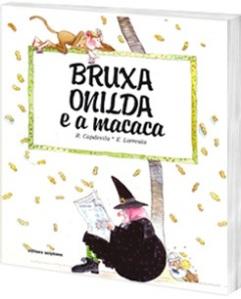 Capa de Bruxa Onilda e a macaca (imagem de divulgação, do site da editora Scipione)